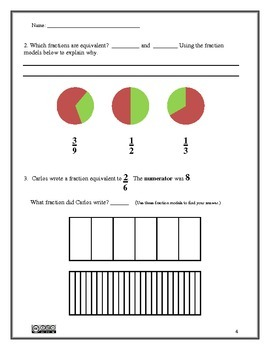 Fractions Assessment - 4.NF.1 and 2