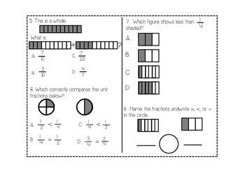 Fractions Assessment Pack