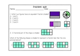 Fractions Assessment Pack