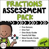 Fractions Assessment Pack Grade 5