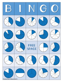 Fraction Identification BINGO