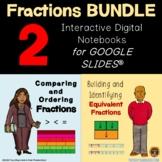 Fractions BUNDLE Digital Notebooks on Google Slides for Di