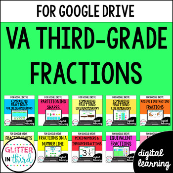 Fractions BUNDLE for Google Drive & Google Classroom Math