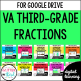Google Classroom Distance Learning 3rd Grade Fractions Virginia SOL