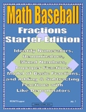 Fractions Baseball Game-Starter Pack