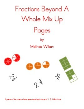 Fractions Beyond A Whole Mix-up Pages