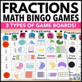 Fraction Bingo: 4 Fractions Games in 1