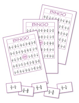 Fractions Bingo 3