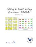 Fractions Bingo!  Adding & Subtracting - with Bingo Cards
