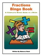 Fractions Bingo Book