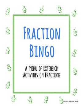 Fractions Bingo Extension Activity