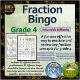 Fraction Bingo Game Grade 4