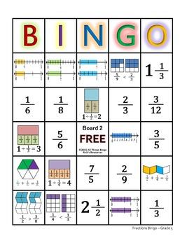 graphic relating to Fraction Bingo Printable known as Portion Bingo Recreation Quality 5