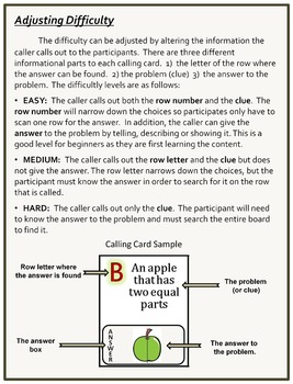 Fraction Bingo Game Grade 5 Distance Learning Homeschool Ready