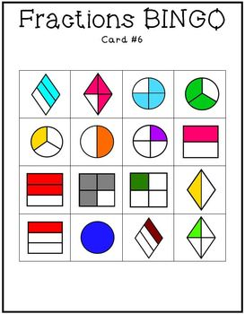 Fractions Bingo Game Set