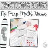 Fractions Bingo - No Prep Math Activity