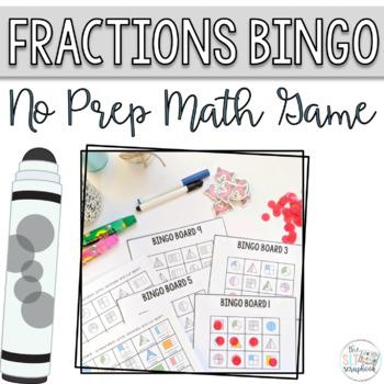 Fractions Bingo - No Prep Activity