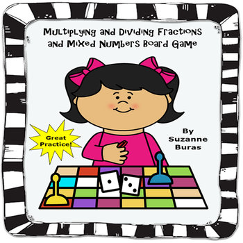 Fractions Board Game: Multiplying and Dividing Fractions a