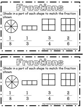 Fractions Booklet, Fractions