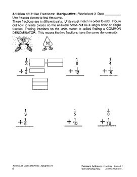 Fractions: Booklet 7 Student - Addition and Subtraction of Unlike Fractions