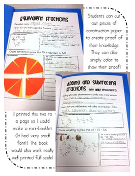 Fractions Booklet- Everything I Need to Know!