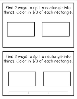 Fractions Books (Halves, Thirds, and Fourths)
