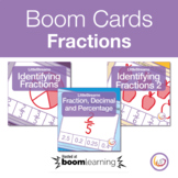 Fractions Boom Cards Internet Activity