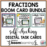 Fractions Boom Cards BUNDLE | Fractions Word Problems