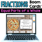 Fractions Boom Cards (Equal Parts of a Whole)