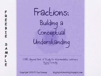 Fractions Building Concepts Freebie