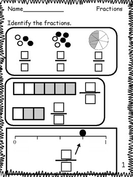 Fractions: Guided Instruction, Practice Printables, and Assessment