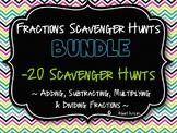 Fractions -  Scavenger Hunts Mega Bundle - 2 Bundles!