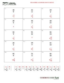 Fractions Master Packet