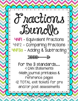 FRACTIONS BUNDLE! Equivalent, Comparing, Adding & Subtract