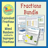 Fractions Bundle Mixed Numbers, Improper and Equivalent Fractions