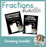 Fractions Bundle - Equivalent fractions, Renaming fraction