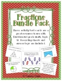 Fractions Bundle Pack Correlates to Envision Math Topic 12