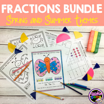 Fractions Bundle - Spring and Summer Themes