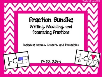 Fractions Bundle - VA SOL 3.3 Writing, Modeling, and Compa