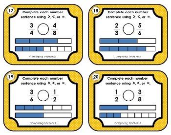 Fraction Task Cards - Bundle