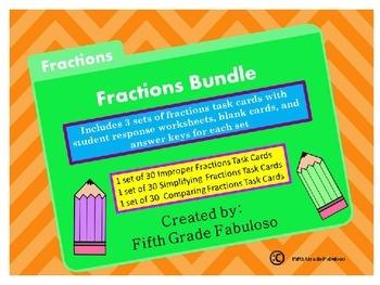 Fractions Bundle:Comparing, Simplifying, and Improper Frac