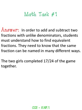 Fractions Pack - 5.NF.1 - Common Core Aligned!