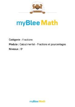Fractions - Calcul mental - Fractions et pourcentages -6e
