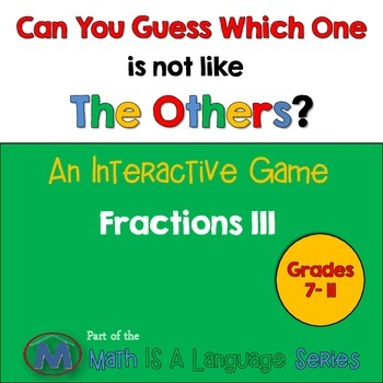 Fractions - Can you guess which one? Game III