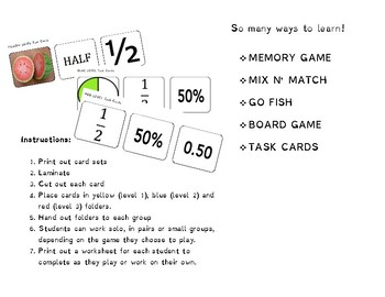 Fractions Card Games