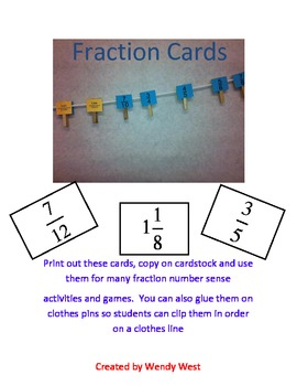 Fractions Cards