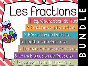 Fractions - Cartes à tâches - lot complet -Bundle !