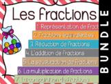 Fractions - Cartes à tâches - lot complet -Bundle !