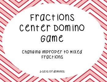 Fractions Center Game(changing improper to mixed numbers)