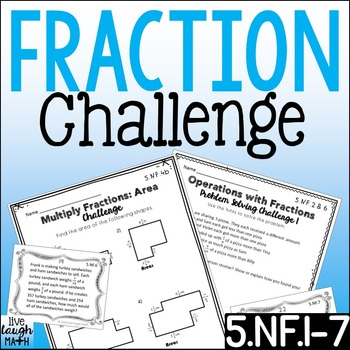 Fractions Challenge Printables & Task Cards